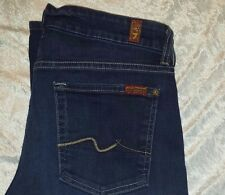 7 For All Mankind Jeans Kimmie Contour Straight Black Night Blue 31 AU0231158A