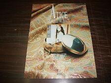 Pubblicità advertising giugno 1985. Disco GIOIELLI RUBATI di ALICE