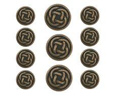 11 pc Celtic Knot Metal Blazer Jacket Coat Button Set Antique Brass Color