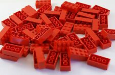 50x Lego® Steine Bausteine Bricks Pieces Parts No 3001 2x4 rot red NEU NEW City