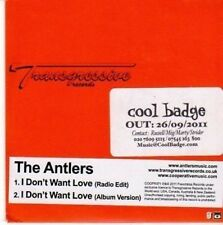 (BY238) The Antlers, I Don't Want Love - 2011 DJ CD