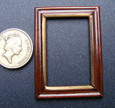 1:12 Scale Wooden Picture Frame With No Acetate Dolls House Miniature Accessory