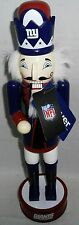 """14"""" NFL NEW YORK GIANTS COLLECTABLE WOOD NUTCRACKER"""