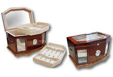 Prestige Import Group Versaille Beveled Glasstop Large Humidor for 300 Cigars
