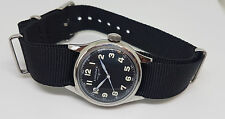 RARE VINTAGE LONGINES BLACK DIAL MANUAL WIND MID SIZE WATCH