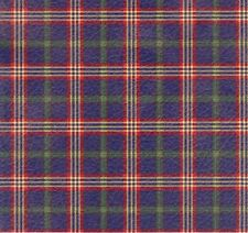BLUE TARTAN PLAID HEAVY EMBOSSED GIFT WRAPPING PAPER - 6 Ft Sheet