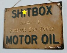 Sh*tbox Ford Motor Oil Wooden Sign Holden Lovers Commodore Kingswood Torana Car