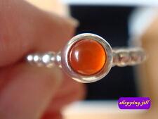 Auth Pandora Cornalina Cabujón anillo de plata 190610K Talla 55 - 100% a obras benéficas