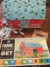 Vintage 1960's OHIO ART FARM & ANIMAL Playset~#196