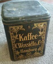 Kaffee c. wossidlo große Tante Emma Antik Cabinetdose Blechdose Rarität Kakao