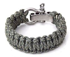 Premium 550 Military Paracord Survival Bracelet ACU Adjustable S/S Shackle USA