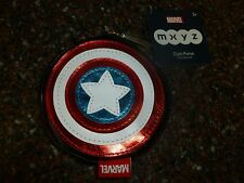 Disney Store Captain America MXYZ Coin Purse Shield, Cosmetic Bag NWT Marvel