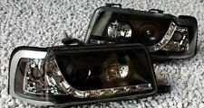 Black clear finish headlights with daytime LED DRL lights for AUDI 80 B4 S2