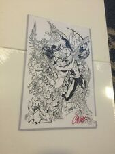 Stan Lee & More Signed 11x17 Marvel Signature Spider-Man Mary Jane Art Work