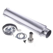PASS New Motorcycle Race Racing Silver Muffler Exhaust Pipe For 250CC 400CC 600C