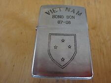 Year 1967 Brushed Chrome Zippo Lighter VIETNAM BONG SON 67-68, US 23rd INFANTRY