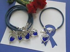 COLON CANCER AWARENESS  'SUPPORT WITH LOVE' BRACELETS - 6 COUNT