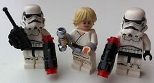 3 Lego star wars MINIFIGURES LUKE (75173) 2 STORMTROOPERS (75165) handcuffs