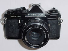 PENTAX ME SUPER 35mm FILM CAMERA WITH PENTAX-M 50mm F/2 SMC LENS - Black ** Ex++