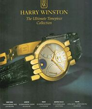 ▬► PUBLICITE ADVERTISING AD MONTRE WATCH HARRY WINSTON  1992