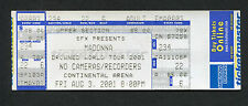 Drowned World Tour 2001 Madonna Unused Full Concert Ticket East Rutherford