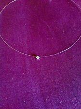 Collier Fil De Nylon Perle Strass Cristal Swarovski 3,3 mm