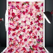 Vinyl Background Cloth Photography Luxuriant Lover Rose Photo Studio Prop 3x5ft