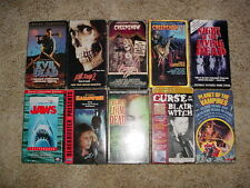 11 VHS VCR Horror Tapes Some OOP Terror Scary Movie video Lot Collection