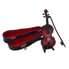Palm Size Mini Violin Guitar Miniature Musical Instrument Decorative Collectible