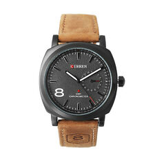 CURREN Sport Black Dial Leather Military Mens Watches Quartz  Homees Montres