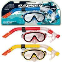 OSPREY ADULTS MASK & SNORKEL SET SNORKELLING SWIMMING DIVING ULTRA CLEAR