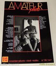 AMATEUR Photo Ciné Vidéo KODAK - N°32 de 1987 - Rencontres d'Arles -Papier KODAK