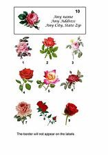 30 Personalized Return Address labels Roses Buy 3 get 1 free (Ra1)