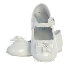 New Baby Toddler Girls White Ivory Dress Shoes Wedding Birthday Mary Jane Joyce