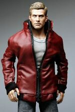 The Vogue Red Leather Smart Zipper Jacket for 1/6 1 : 6 Figure NEW (MC0312)