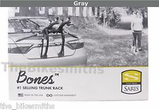 Saris BONES 2 Bike GRAY Car Trunk Rack Bicycle Carrier USA Lifetime Warranty 805