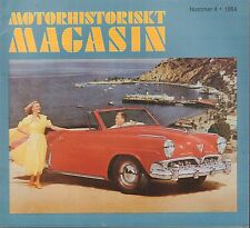 Motorhistoriskt Magasin Swedish Car Magazine #4 1984 Lopp 60 031617nonDBE