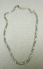 STERLING SILVER ITALY DIAMOND CUT FANCY CHAIN LINK NECKLACE 18 1/2'' 447-T