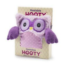 Intelex Hooty Owl Purple Microwavable Bed Time Warmer Plush Soft Toys Heatable