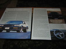 1987 Buick GN-X article