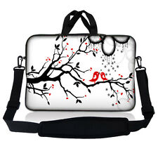 "15.6"" Laptop Sleeve Bag Case w Shoulder Strap HP Dell Asus Acer Love Birds SP44"