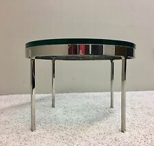 Polished Steel & Glass, Side Table By Nicos Zographos