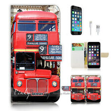 iPhone 7 (4.7') Flip Wallet Case Cover P0773 British Red Bus