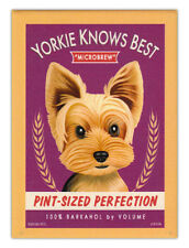 Retro Dogs Refrigerator Magnets - Yorkshire Terrier (Yorkie) Brew - Art