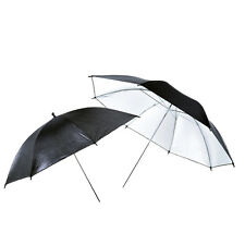 "2Pcs 40"" Black/Silver Flash Reflective Umbrella for Photography Studio Spee"