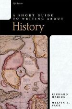 Short Guide to Writing About History, A (5th Edition) (Short Guides Series)