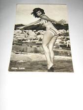 CARTOLINA ABBE LANE ,ORIGINALE,foto anni 50 SEXY