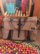 jack spade canvas & leather Messenger bag briefcase travel Please Read!