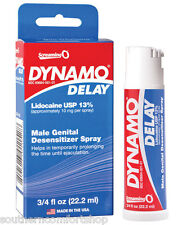 Dynamo Delay Spray with Lidocaine To Prolong Ejaculation .75 Ounce 22ml Bottle