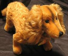 RARE Large Minty Vintage Long Red Haired Steiff Waldi Dachshund 4140/22  70's